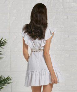 Weißes Hippie Sommerkleid