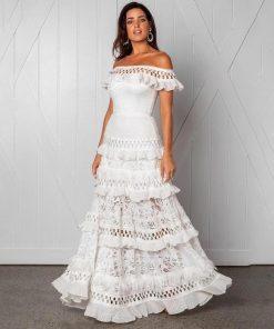Weißes kurzes Kleid bohemian chic