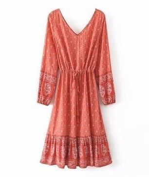 Bohème Kleid 70er Jahre